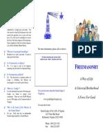 Freemasonry - A Way of Life Brochure