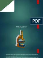 Ppt Optik Mikroskop