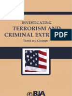 Investigating Terrorism and Criminal Extremism Terms and Concepts