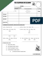 Alquinos-practica Calificada de Quimica