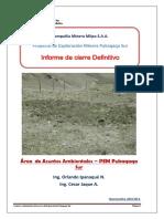 Informe Final de Cierre Definitivo - Asuntos Ambientales Pukaqaqa Sur
