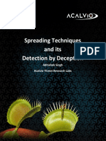 Spreading Techniques and Deception-based Detection - Acalvio Technical White Paper