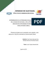 Proyecto Sobre Los Problemas Sociales Existentes en Guayaquil (Corregido)