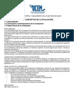 Evaluación, Control y Seguimiento de La Gestión Escolar