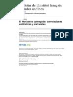 Bifea 3898-35-3 El Horizonte Corrugado Correlaciones Estilisticas y Culturales