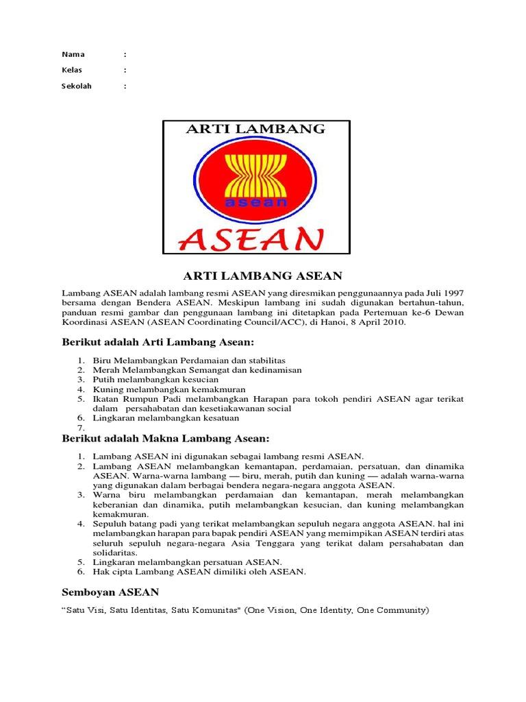 Arti Lambang Asean Docx Gambar Logo