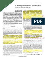 (SSNMF) Semi-Supervised Nonnegative Matrix Factorization