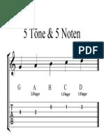 5 Töne & 5 Noten (mit TAB) - Partitur.pdf