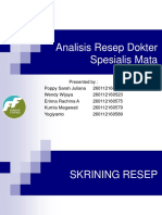 Screening Resep Spesialis Mata