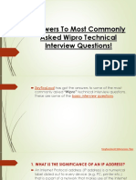 Wipro Technical Interview Questions