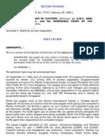 Commissioner of Customs v. K.M.K. Gani G.R. No. 73722 Feb 26 1990