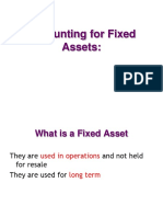 Accounting for Fixed Assets
