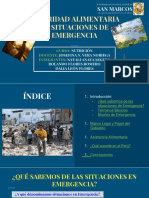 Nutrición - Seguridad Alimentaria en Situaciones de Emergencia