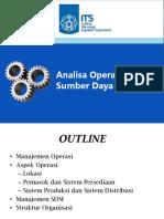 PPT 7-Analisa Operasi Dan SDM