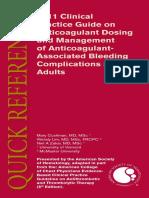Anticoagulant Guidelines ASH
