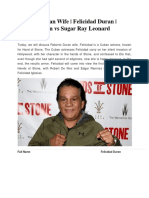 Roberto Duran Wife Felicidad Duran Robert Duran vs Sugar Ray Leonard