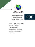 MBUS Assignment