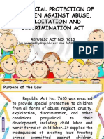 Report on Agrarian Law and Special Legislation