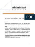 "Fundación Caja Mediterráneo. Bases Concurso de XXXIX Novela Corta ""Gabriel Sijé"""