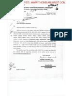 Coastal Zone Management Authority's Letter