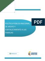 Politica Pública - Apoyo Fortalecimiento a Las Familias