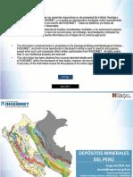 Acosta, J. (2017) Depósitos Minerales Del Perú.