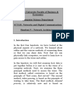 Handout 5 - Network Architecture