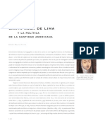 Santa Rosa y La Politica de La Santidad Ramon Mujica