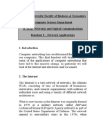 Handout 8 - Network Applications