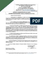 Courrier adressé à la DG Examen professionnel.pdf