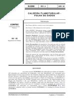 N-2250 a Caldeira Flamotubular - Folha de Dados
