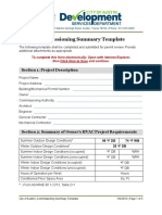 Commissioning Summary Template