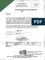 Oficio OAJ 50 1263