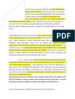 Properties of HPC