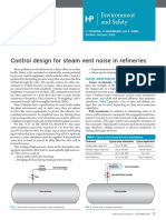 Control Design for Steam Vent Noise in Refineries (HP)