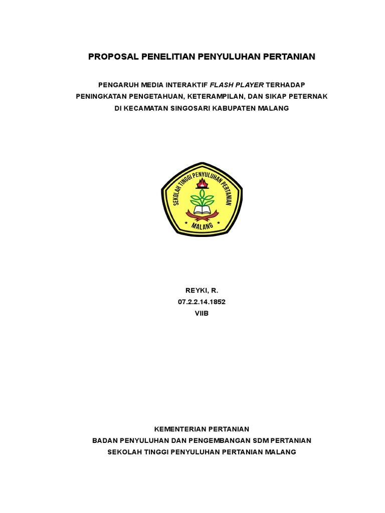 Proposal Penelitian Penyuluhan Pertanian