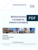 Transition From Construction to Commissioning