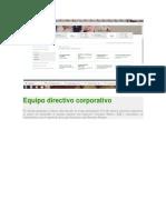 Equipo Directivo Corporativo