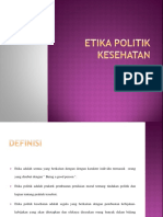 Etika politik kesehatan