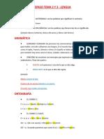 Repaso Lengua Tema 2 y 3