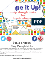 Playdough Mats for Basic Shapes