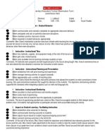 seniorjunior formal observation form doc