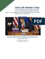 International Left Hander's Day