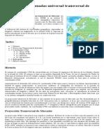Sistema de Coordenadas Universal Transversal de Mercator - Wikipedia, La Enciclopedia Libre