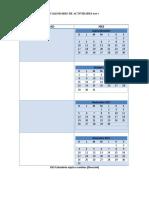 Calendario Escolar Del
