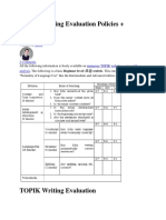 TOPIK Writing Evaluation Policies