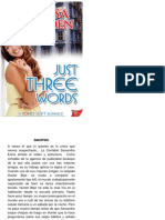 Just Three Words Segunda Entrega Trilogia Soho Brayden Melissa