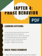 Chapter 4 - Phase Behaviour