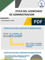 Codigo de Etica Del Licenciado de Administracion