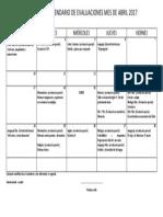 2MC-Calendario Evaluaciones Mes Abril
